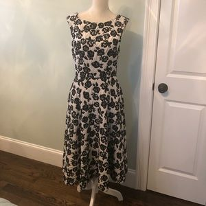 Betsy Johnson black & white fit & flare